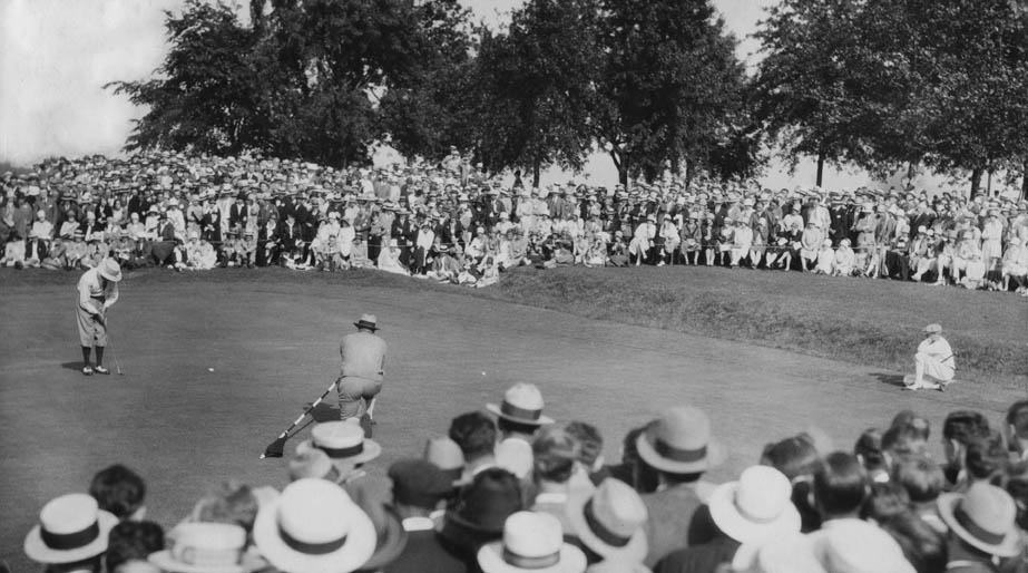 Armour's putt on 18 to tie Cooper, US Open 1927