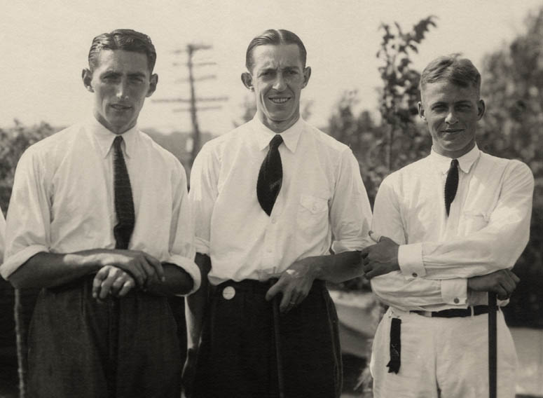 Tommy with Francis Ouimet and Bobby Jones, US Amateur 1921