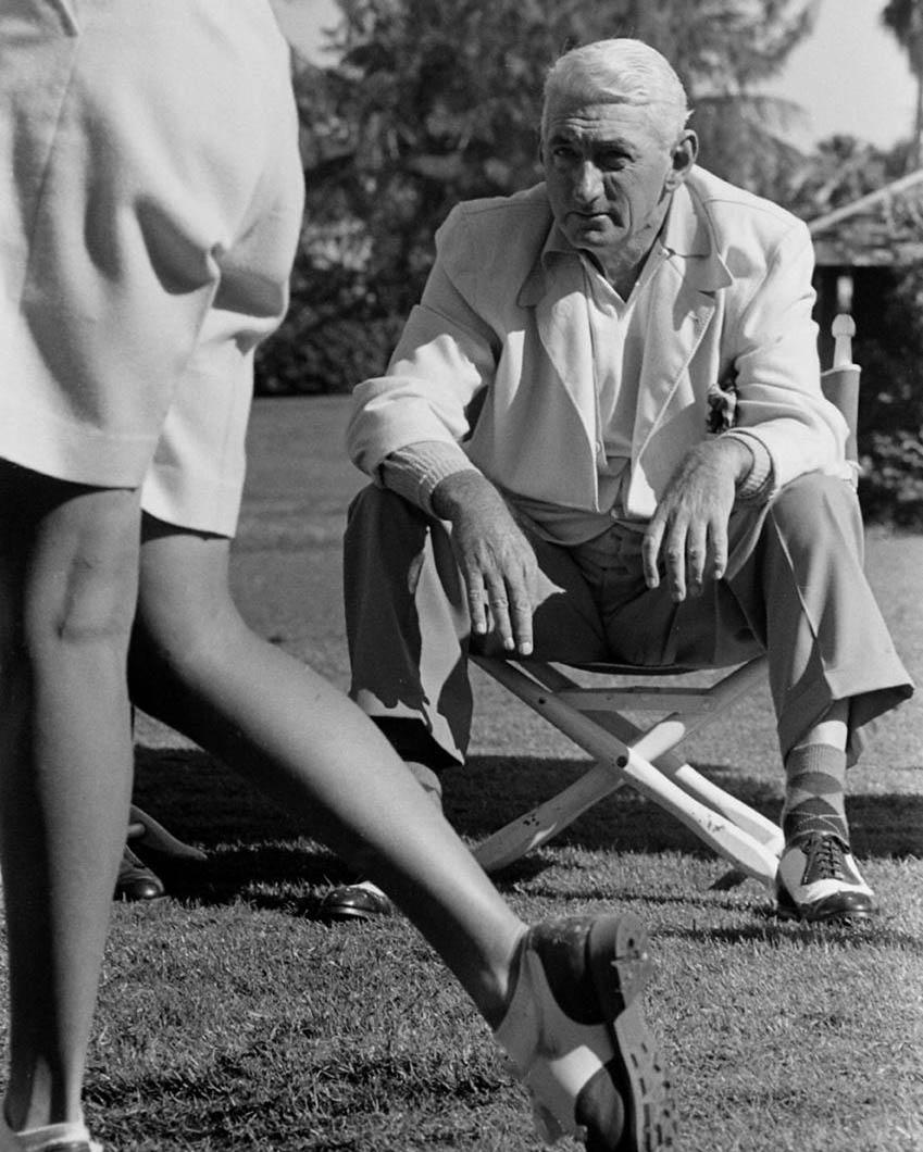 Admiring a student's fine form, Boca Raton c.1950