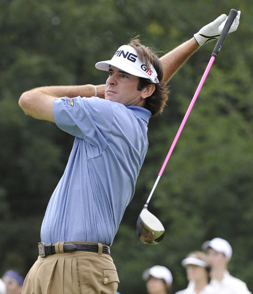 Bubba Watson lost it with Steve Elkington in 2008