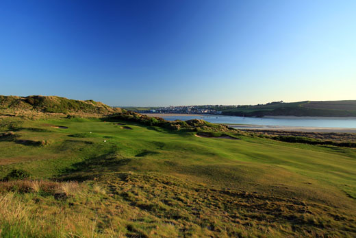 Cornish Cracker: the par- five sixteenth at St Enodoc