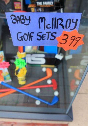 Baby golf sets are being sold in McIlroy's home town