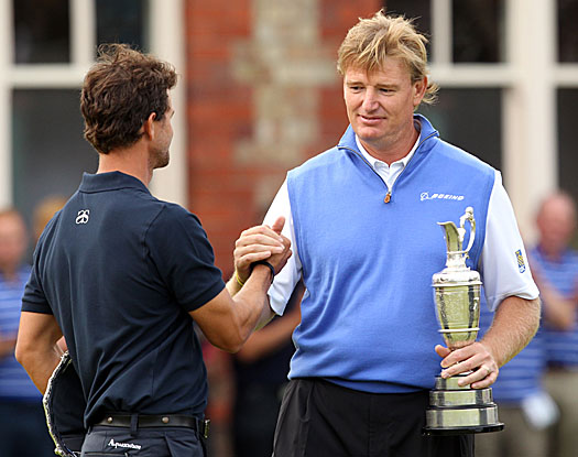 Els took advantage of Scott's late collapse to win the 2012 Open Championship