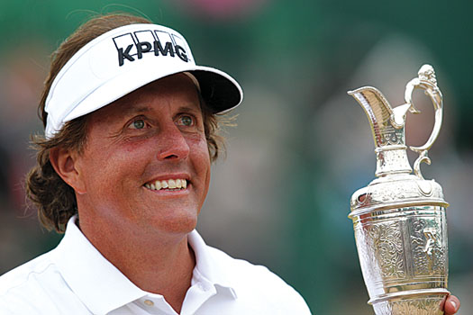 """This is a day and a moment I will cherish forever,"" Mickelson said"