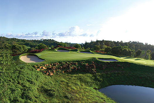 The closing hole on Ocean Course at Ria Bintan