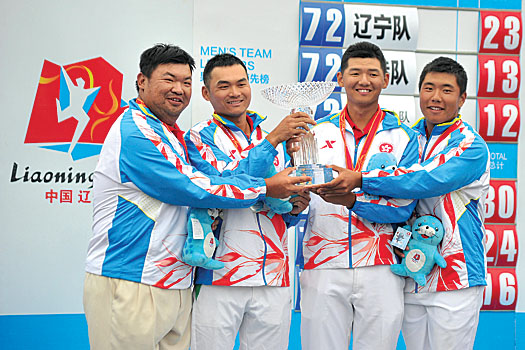 James Wong, Timothy Tang, Jason Hak and Motin Yeung pose with their richly deserved trophy