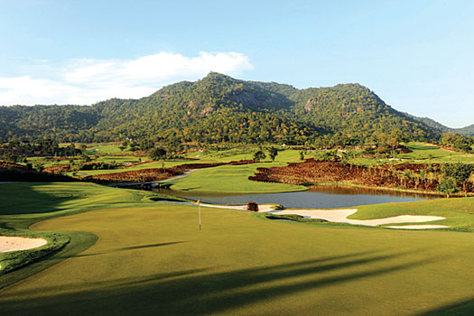 The wonderfully manicured Black Mountain Golf Club in Hua Hin, Thailand