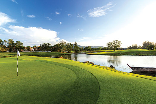 The first green at Laguna Phuket