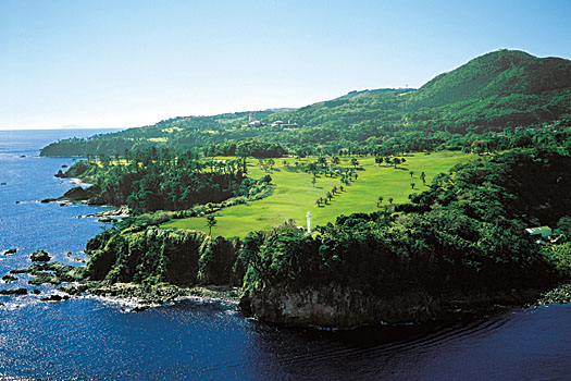 An aerial view of the Fuji Course at the Kawana Hotel in Japan