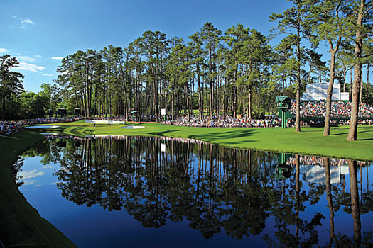 The 16th hole at Augusta National, a mid-length par-3
