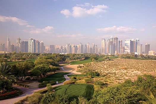 The Majlis Course at the Emirates Golf Club in Dubai