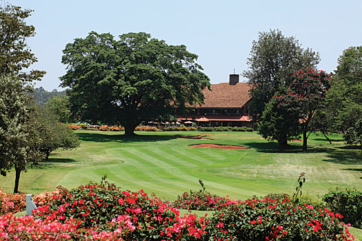 Karen Country Club is routed over a former coffee plantation owned by Out of Africa author, Karen Blixen