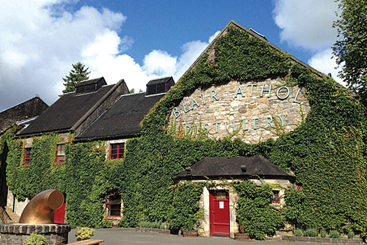 The picturesque Blair Athol distillery in the Scottish Highlands
