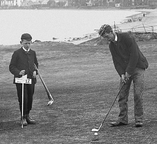 Strath at his home course of North Berwick after the 1876 debacle