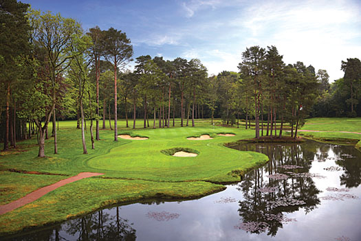 Woking Golf Club, one of the author's favourites in the UK