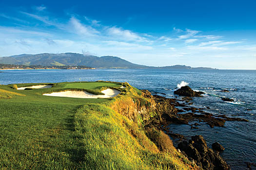 The famous par-3 seventh at Pebble Beach