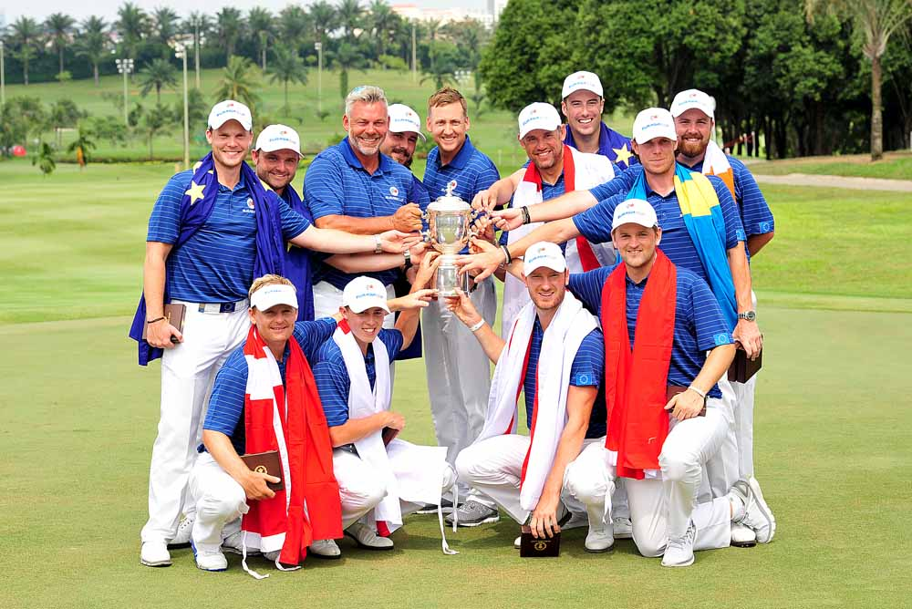 Team Europe, skippered by Darren Clarke who will lead the European side at Ryder Cup later in the year, hammered Team Asia in Malaysia last month