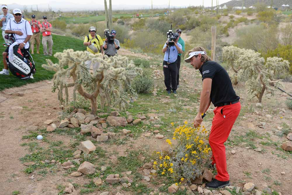 Victor Dubuisson in action during the 2014 WGCMatch Play Championship