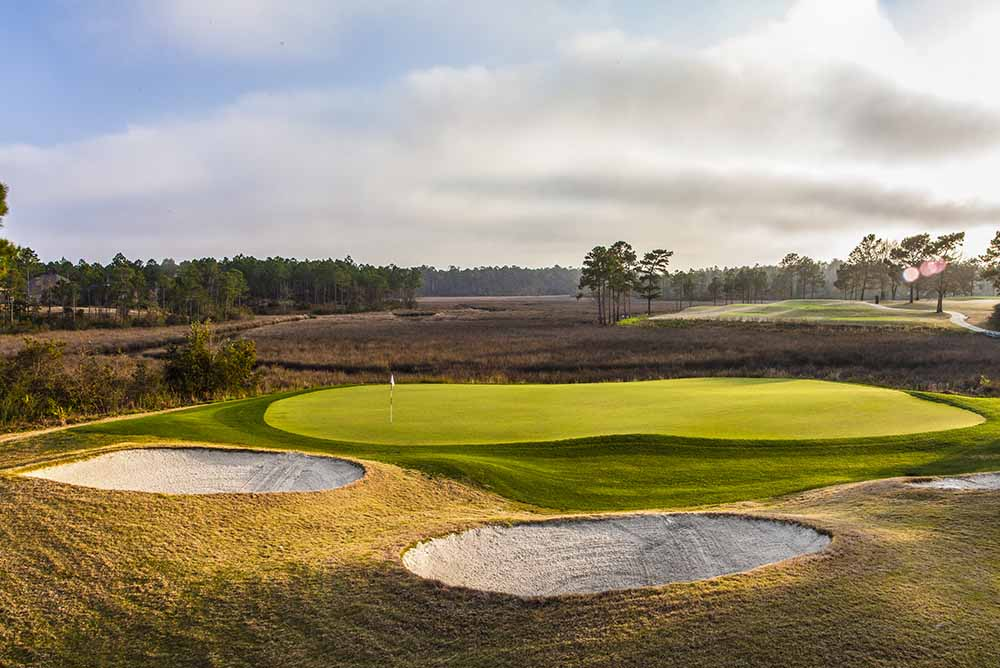 Designed by Davis Love III, Shell Landing is as challenging as it is beautiful