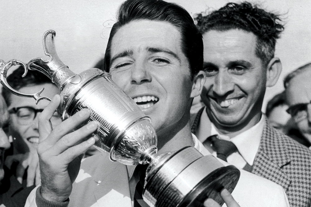 Player won the first of his Open Championship titles in 1959