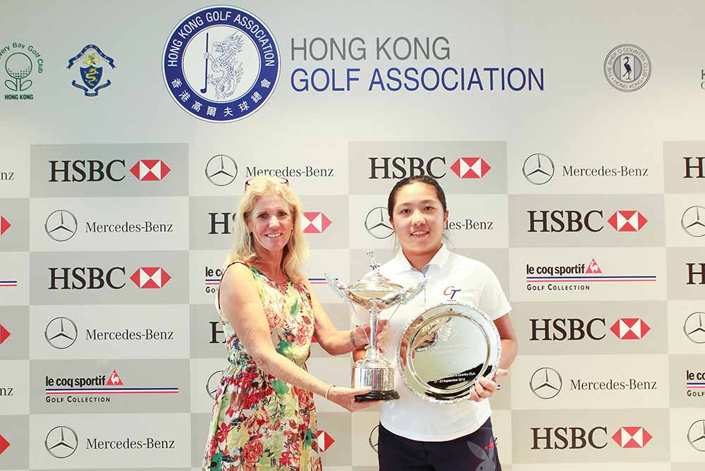 Tseng Tsai-Ching with her trophies