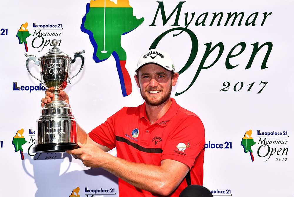 Todd Sinnot became the second quickest player to earn an Asian Tour victory straight out from Qualifying School when he took only two events to hoist a trophy at the Leopalace21 Myanmar Open