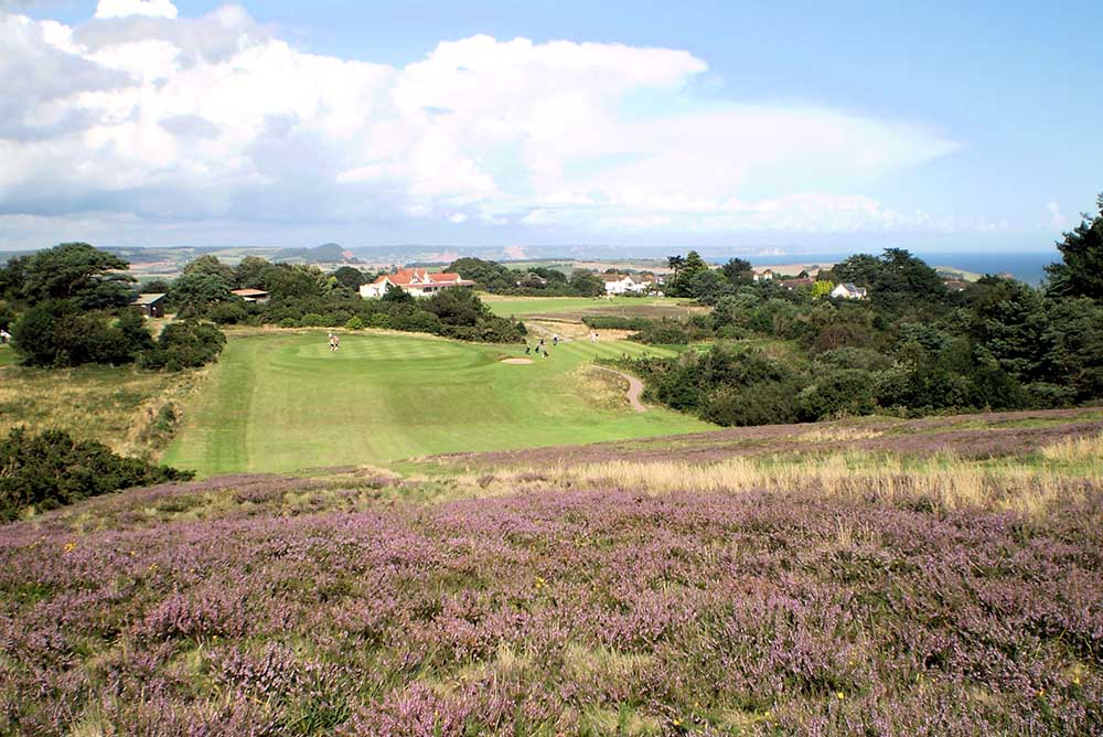 East Devon 17th hole approach angle