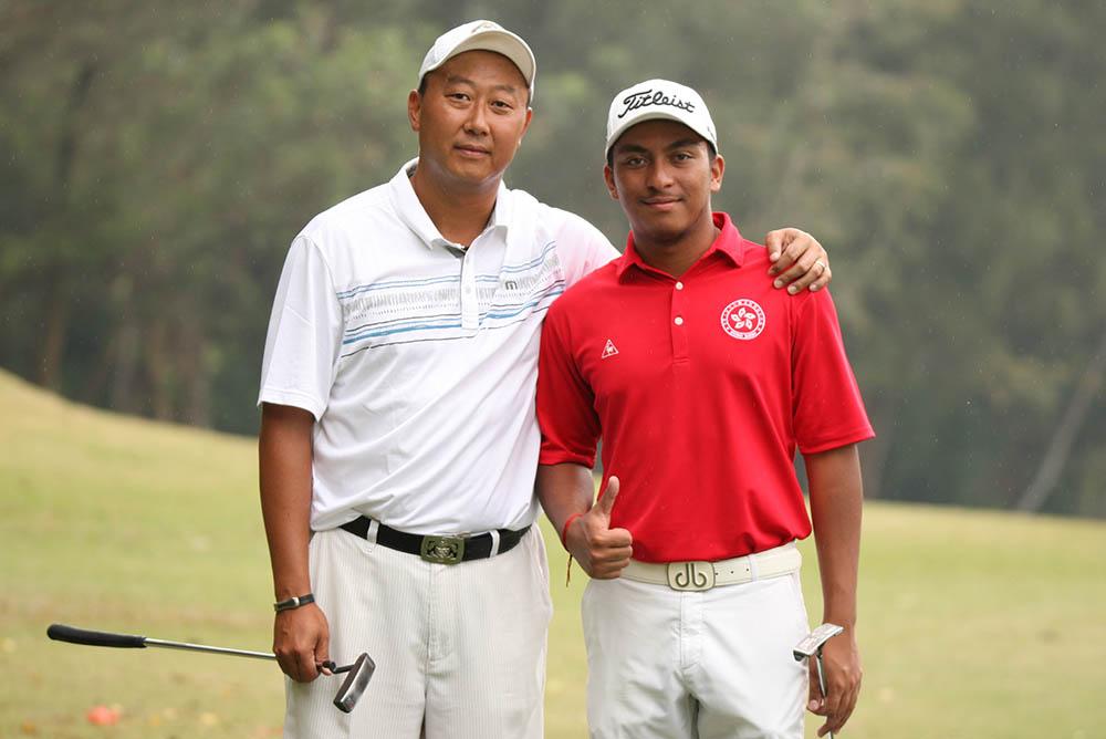 Friendly rivals - Max Wong and Leon D'Souza