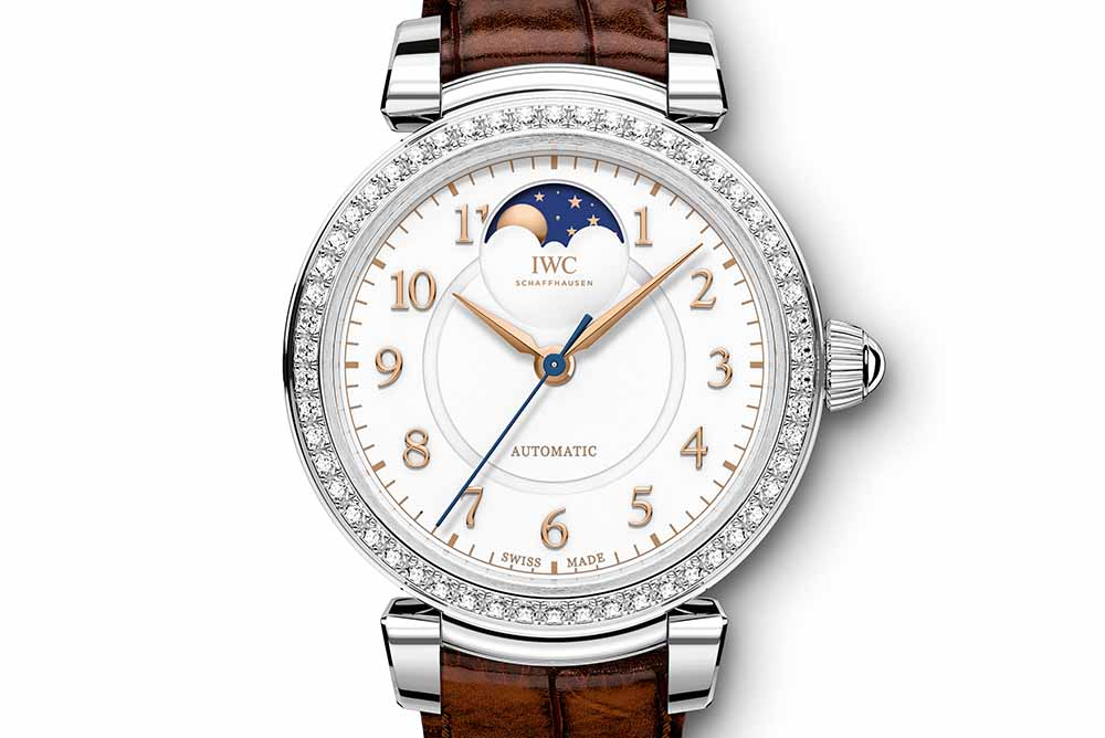 Da Vinci Automatic Moon Phase 36 with Diamond-Set Bezel (Ref. IW459307)