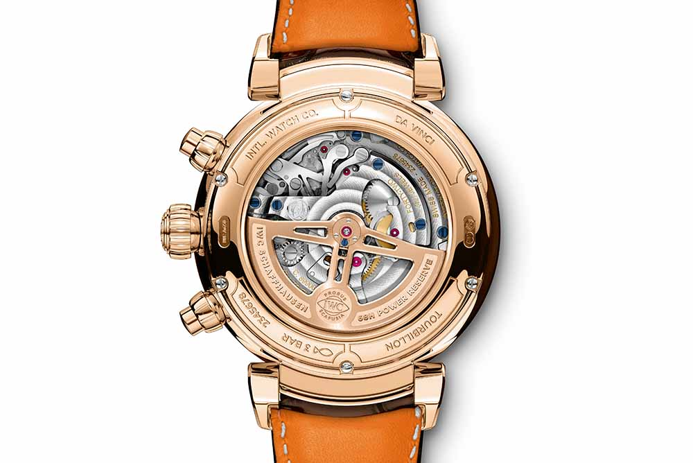 The Back of Da Vinci Tourbillon Rétrograde Chronograph (Ref. IW393101)