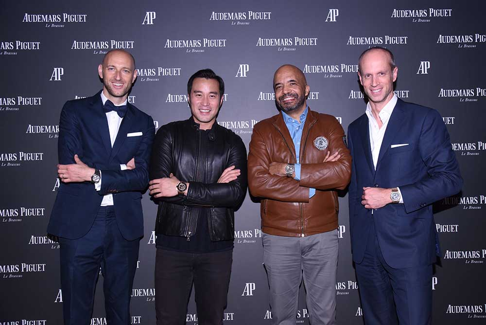 Tim Sayler, CMO of AP, Joseph Chang, Olivier Audemars, VP of the Board of Directors of AP, David von Gunten, CEO Greater China of AP