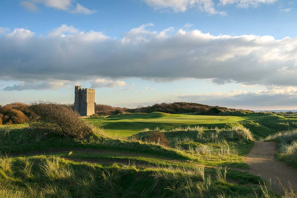 Hole 12 at Burnham & Berrow Golf Club, part of the Atlantic Links