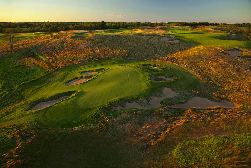 The Erin Hills course