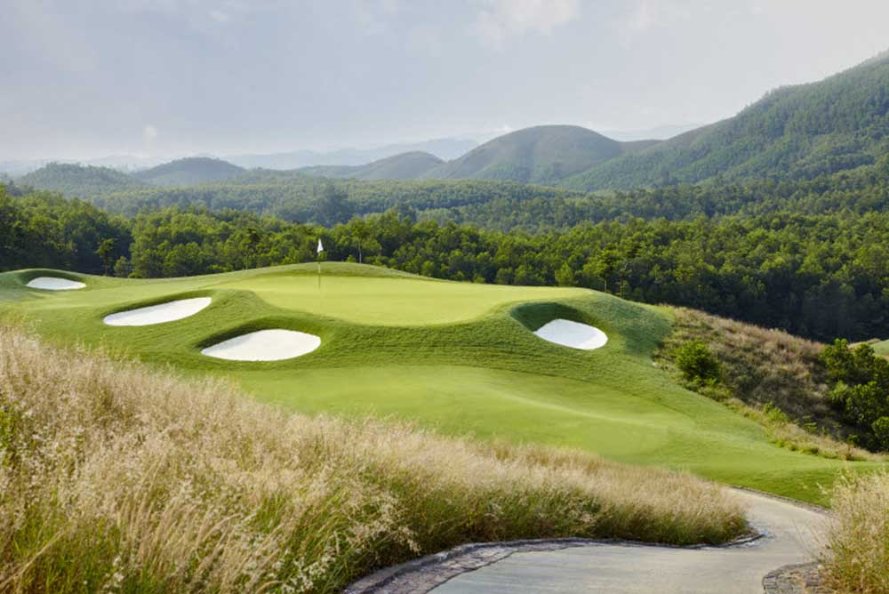 The par-3 12th hole at Ba Na Hills Golf Club
