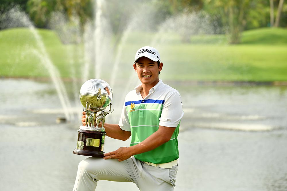 Rattanon Wannasrichan raced to a glorious home win at the Thailand Open