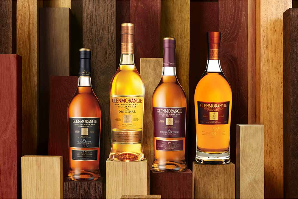 An excellent opportunity to try four different whiskies from Glenmorangie