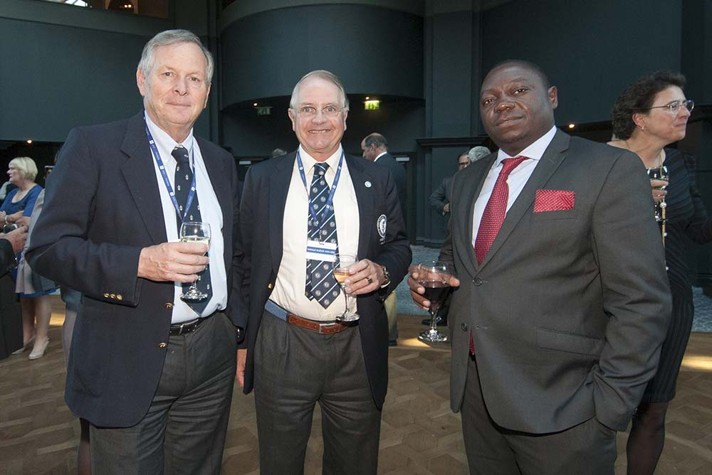 President Harald Dudok van Heel (centre) attends the 10th R&A International Golf Conference