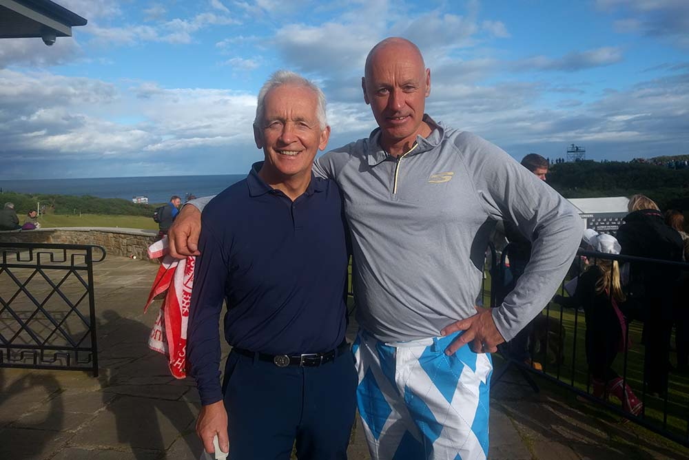 David Walsh and the Kilted Caddie (right)