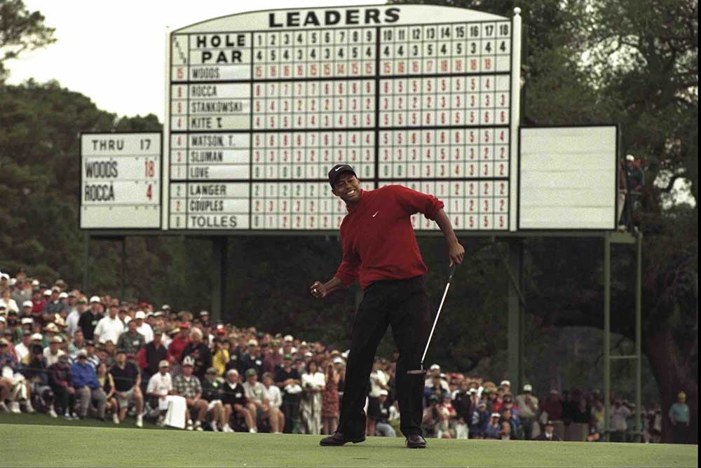 Rolex Testimonee Tiger Woods at the 1997 Masters