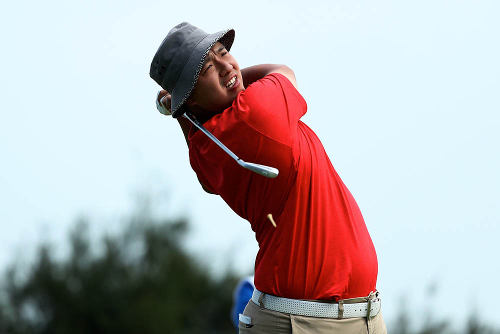 Eugene Wong secured third place at 4-under