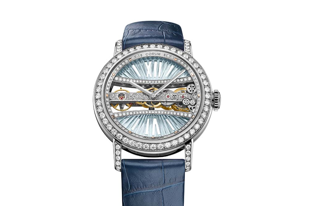Corum Lady Golden Bridge Round 39mm Light Blue