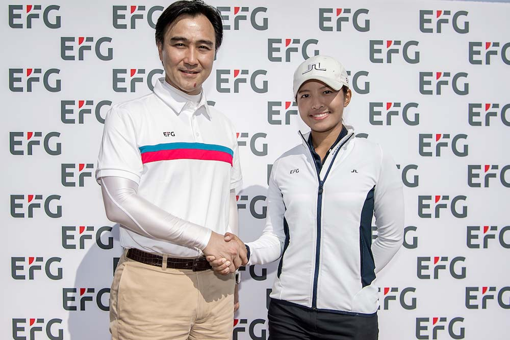 Albert Chiu and Tiffany Chan at the launch of EFG Young Athletes Foundation