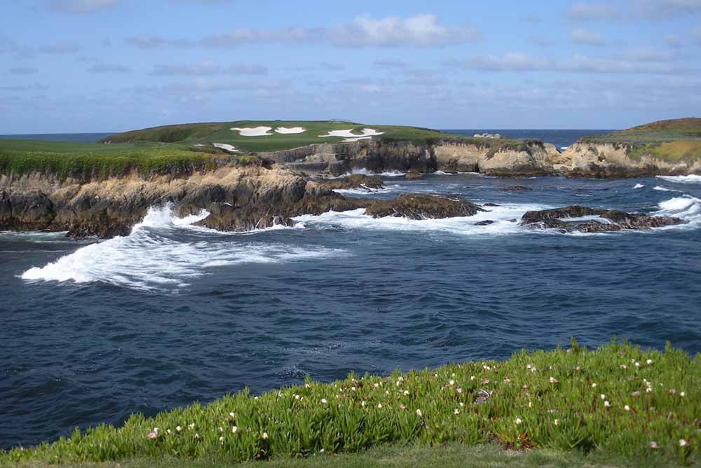 The 16th hole at Cypress Point Golf Club