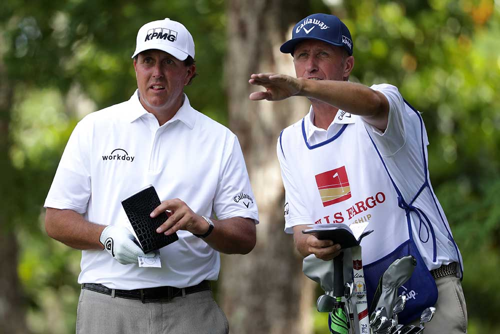 "Phil Mickelson and Jim ""Bones"" Mackay split last summer"
