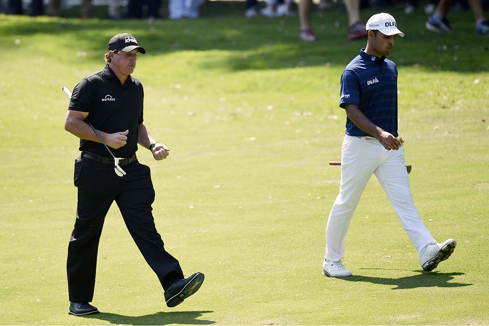 Sharma earned himself a final day grouping with World Golf Hall of Famer, Phil Mickelson