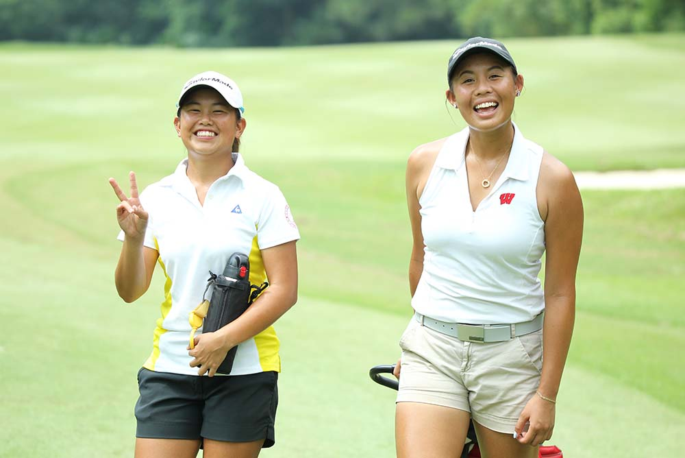 Isabella Leung (left) and Michelle Cheung (right)