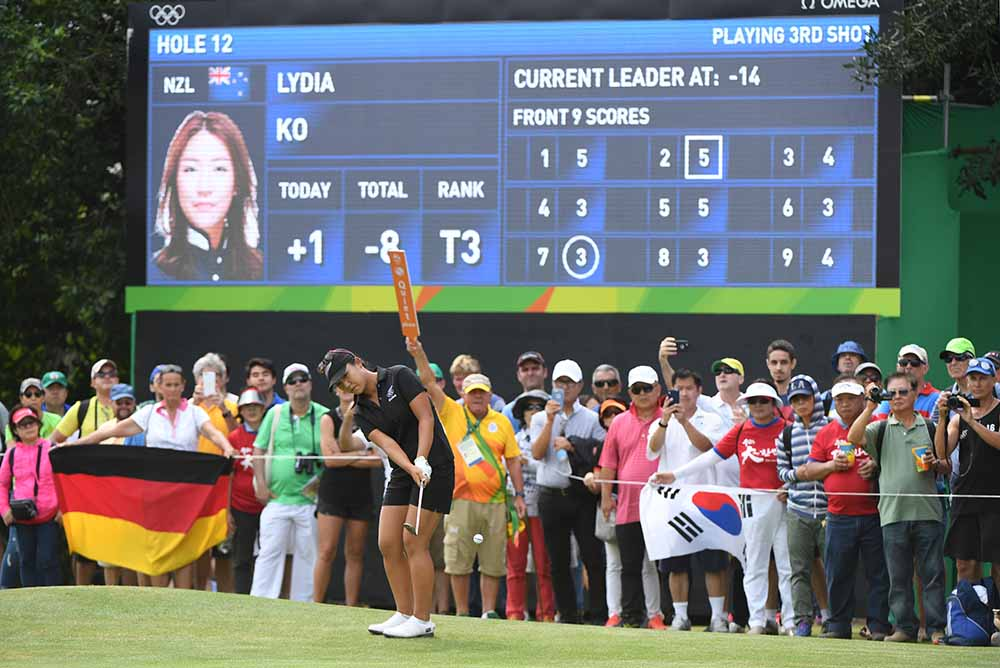 Lydia Ko competes in the Women's individual stroke play at the Olympics