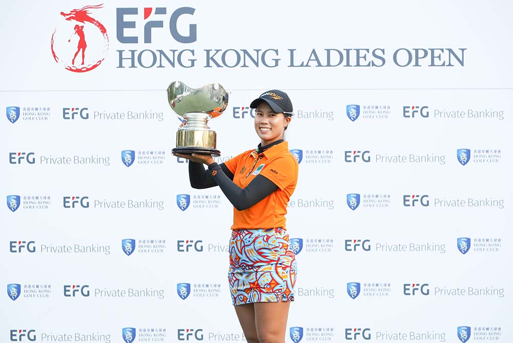 Saranporn Langkulgasettrin became the second Thai to win the US$150,000 championship