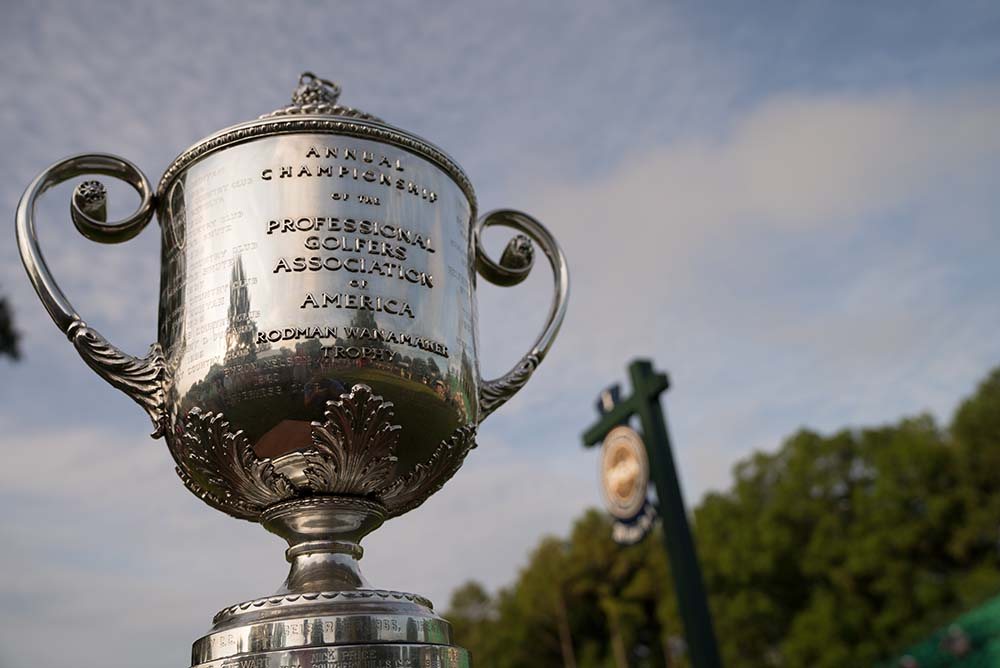 Who will lift the giant Wanamaker Trophy on Sunday 12th of August?