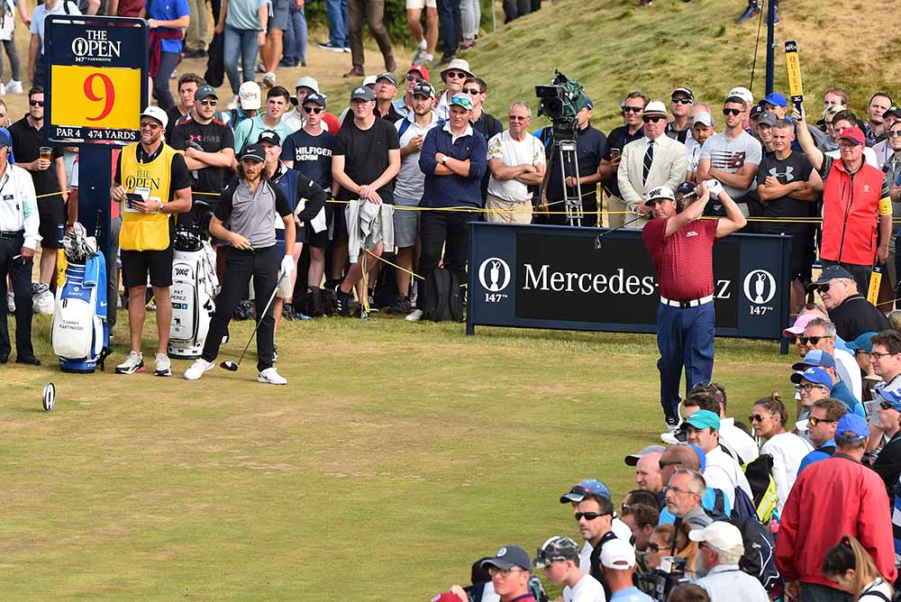 Pat Perez plays during The 147th Open Championship
